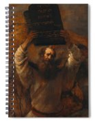 Moses With The Ten Commandments Spiral Notebook