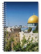 Mosques In Old Town Of Jerusalem Israel Spiral Notebook