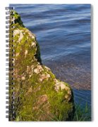 Moss Covered Rock And Ripples On The Water Spiral Notebook