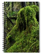 Moss Covered Tree Stump Spiral Notebook