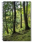 Moss Forest - Ginkakuji Temple - Japan Spiral Notebook