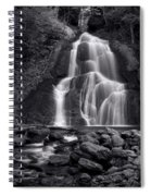 Moss Glen Falls - Monochrome Spiral Notebook