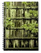 Mossy Bamboo Fence - Digital Art Spiral Notebook