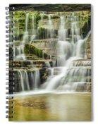 Mossy Flowing Waterfalls In Enfield Glen Spiral Notebook