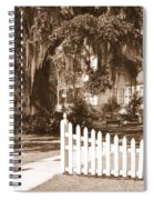 Mossy Live Oak And Picket Fence Spiral Notebook