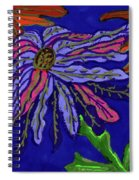 Most Unusual Poinsettia In A Midnight Blue Sky Spiral Notebook