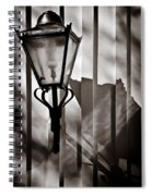 Moth And Lamp Spiral Notebook