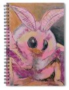 Moth Of Pink Spiral Notebook