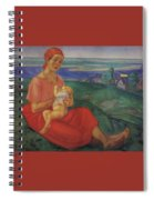 Mother 1 1913 Kuzma Sergeevich Petrov-vodkin Spiral Notebook