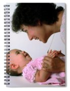Mother And Baby Girl Smiling Spiral Notebook