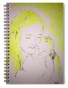 Mother And Baby Spiral Notebook