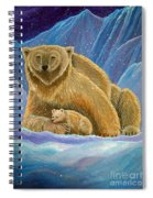 Mother And Baby Polar Bears Spiral Notebook