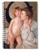 Mother And Boy Spiral Notebook