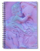Mother And Child In Lavender Spiral Notebook