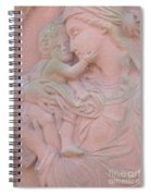 Mother And Child In Red Sandstone Spiral Notebook
