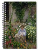 Mother And Child In The Flowers Spiral Notebook