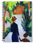 Mother And Child In The Park Spiral Notebook