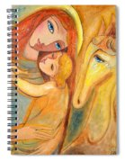 Mother And Child On Horse Spiral Notebook