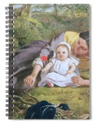 Mother And Child With A Poppy Spiral Notebook