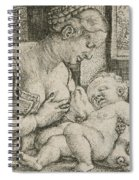 Mother And Child With Skull And Hourglass Spiral Notebook