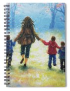Mother And Three Sons  Spiral Notebook