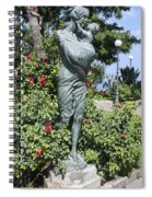 Mother Child Statue Spiral Notebook