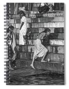 Mother Ganges - Paint Bw Spiral Notebook