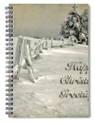 Mother Nature's Christmas Tree Card Spiral Notebook