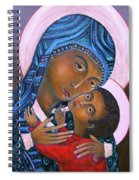 Mother Of God And Child Spiral Notebook