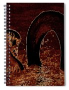 Mother Swan And Cygnet Spiral Notebook