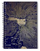 Motherboard Architecture Blue Spiral Notebook