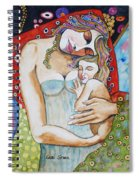Motherhood - Tribute To Klimt Spiral Notebook