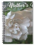 Mother's Day Gardenia Spiral Notebook
