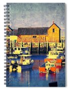 Motif No. 1 - Sunset Digital Art Oil Print Spiral Notebook