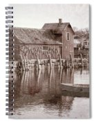 Motif Number 1 - Black And White Spiral Notebook