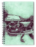 Moto Guzzi Le Mans 3 - Sports Bike - 1976 - Motorcycle Poster - Automotive Art Spiral Notebook