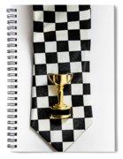 Motor Sport Racing Tie And Trophy Spiral Notebook