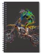 Motorbiker Spiral Notebook