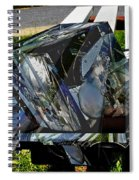 Motorcycle And Park Bench As Art Spiral Notebook