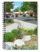 Motorcycle Parade Spiral Notebook