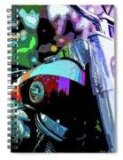 Motorcycle Poster IIi Spiral Notebook