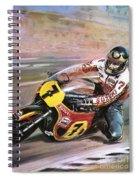 Motorcycle Racing Spiral Notebook