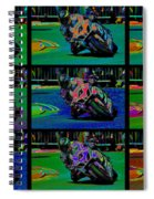 Motorcycle Road Race Spiral Notebook
