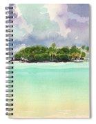 Motu Rapota, Aitutaki, Cook Islands, South Pacific Spiral Notebook