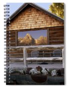 Moulton Ranch Cabin Reflection Grand Tetons Spiral Notebook