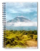 Mount Agung On The Island Paradise Of Bali Spiral Notebook