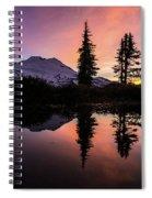 Mount Baker Sunrise Reflection Spiral Notebook
