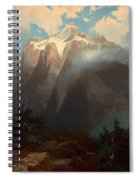 Mount Brewer From King's River Canyon - California Spiral Notebook