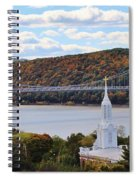 Mount Carmel And The Mid Hudson Bridge Spiral Notebook