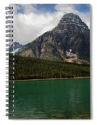 Mount Chephren From Waterfowl Lake - Banff National Park Spiral Notebook